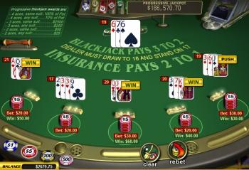 table virtuelle de blackjack